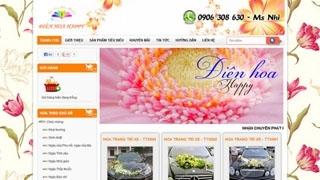 Thiết kế web Điện Hoa Happy