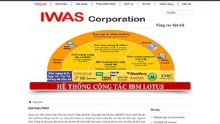 Thiết kế web IWAS COPORATION