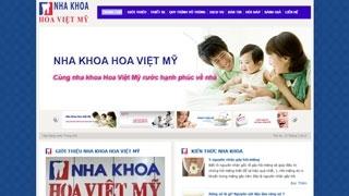 Thiết kế Web Nha Khoa Hoa Việt Mỹ