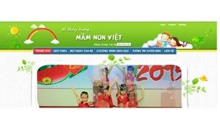 Thiết Kế Web Trường Mầm Non Việt