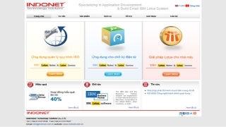 Thiết kế website tư vấn INDONET