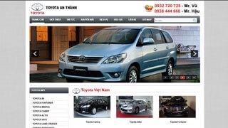 Thiết kế Web Toyota An Thành