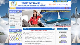 Thiết kế web Vé Máy Bay Thái Bình