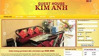 Thiết kế web Khách Sạn Kim Anh