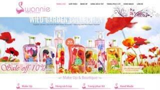 Thiết kế web bán hàng Shop Swannie